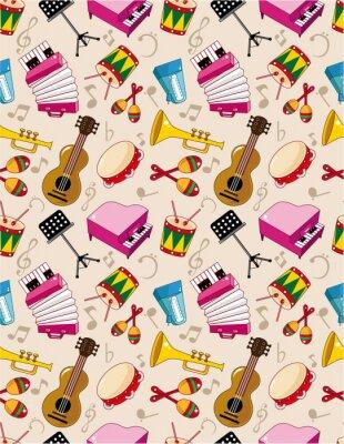 Poster modello di musica senza soluzione di continuità
