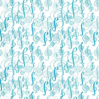 Poster modello di musica senza soluzione di continuità con una chiave di violino.
