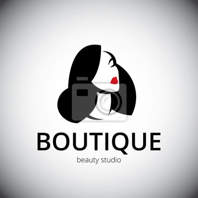 Modello Logo Per Un Salone Di Bellezza O Spa Stilizzato Viso