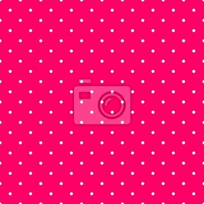 Modello Tile Vettore Con Pois Bianchi Su Sfondo Rosa Manifesti Da