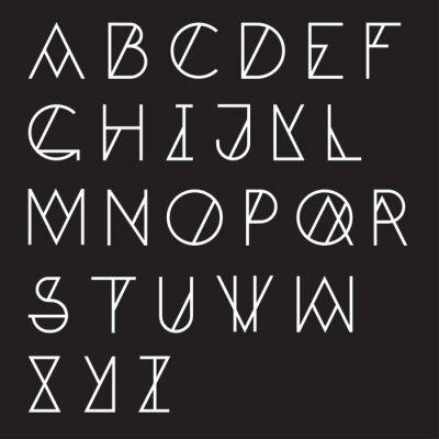 Poster Moderno alfabeto geometrico