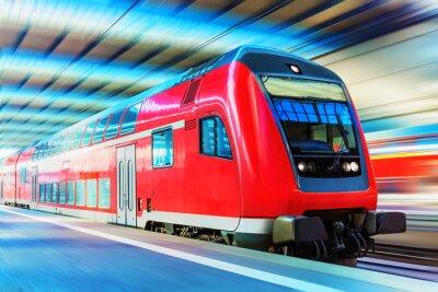 Poster Moderno treno ad alta velocità