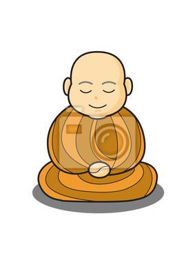 Poster monaco in meditazione