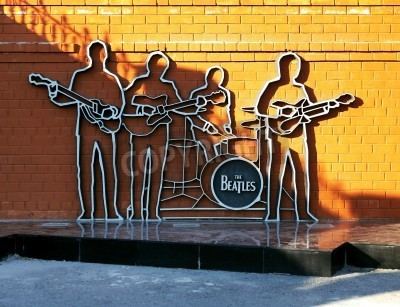 Poster Monumento ai Beatles a Ekaterinburg, in Russia