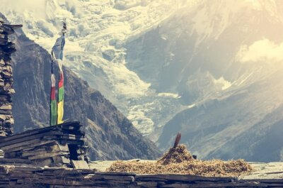 Poster Mountain View, Annapurnas in Nepal.