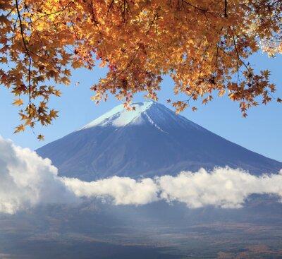 Poster Mt. Fuji con i colori in Giappone