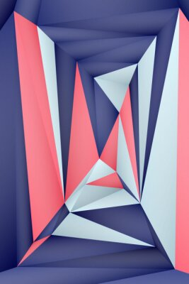Poster Multi-color geometric triangular low poly abstract background. Creative illustration in halftone style with gradient. Triangular pattern for your business design.