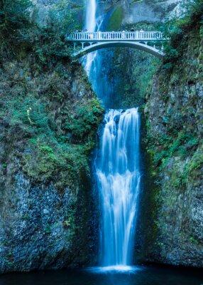 Poster Multnomah Falls e il Columbia Gorge