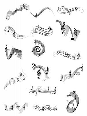 Poster Music swirl set