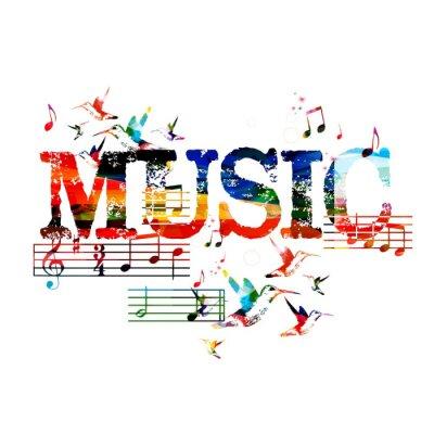 Poster Musica di sottofondo colorato
