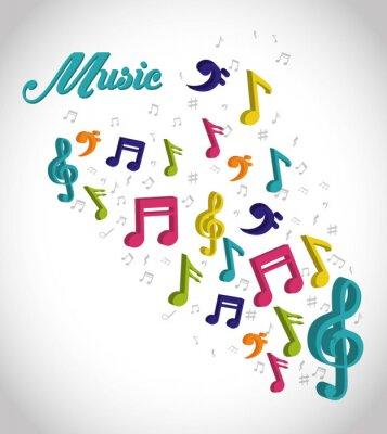 Poster Musica disegno digitale.