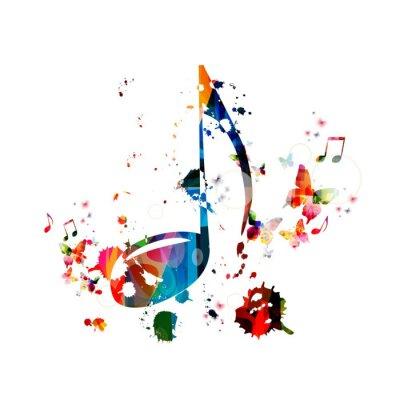 Poster Musica sfondo colorato