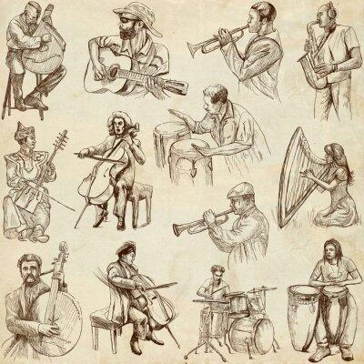 Poster Musicisti e musica intorno al mondo (set n. 2, carta)