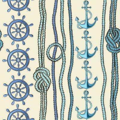 Poster Nautical seamless pattern