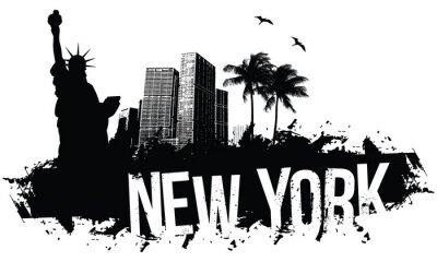 Poster New York Banners nero