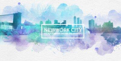 Poster New York City è dove i sogni sono fatti cartolina