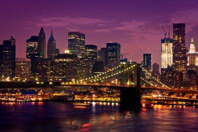 Poster New York pont de Brooklyn