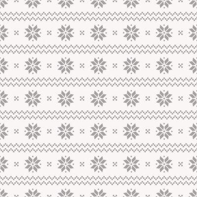 Poster Norwegian seamless. Vector set.