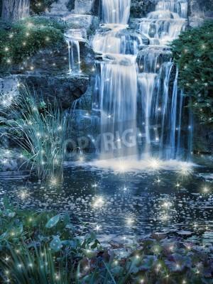 Poster Notte magica scena cascata