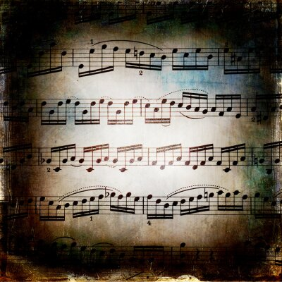 Poster Od musicale grunge texture