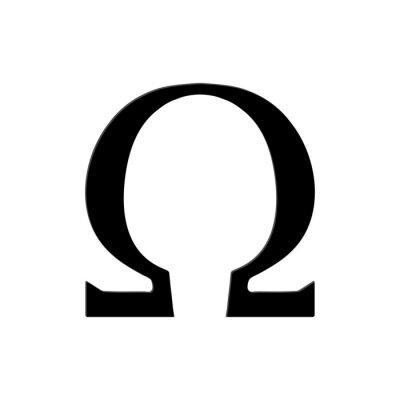 Poster Omega Simbolo