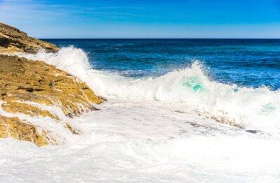 Poster onde del mare schiuma Rock Surf