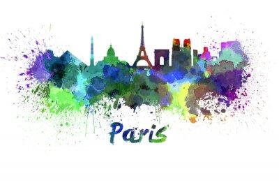 Poster Orizzonte di Parigi in acquerello