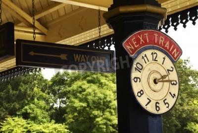 Poster Orologio della stazione