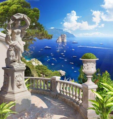 Poster Paesaggio mediterraneo