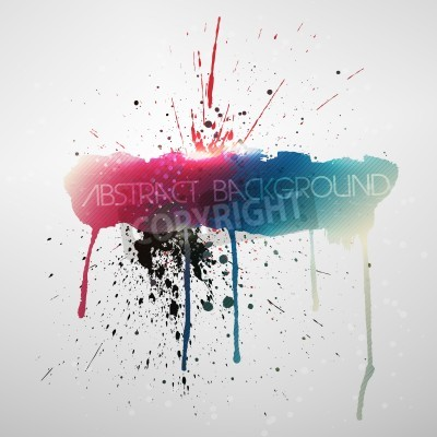 Poster Paint splat grungy background