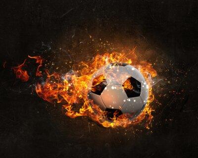 Poster Palla che brucia nel fuoco