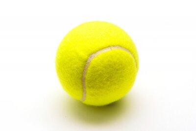 Poster palla da tennis verde su sfondo bianco