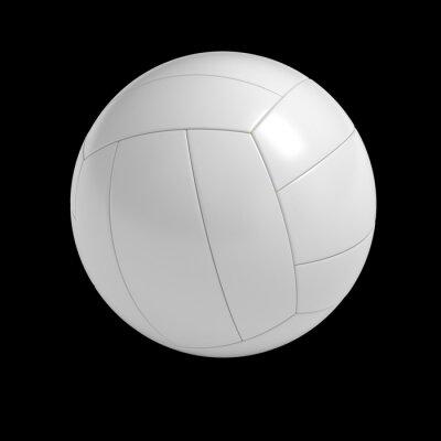Poster Palla di pallavolo in bianco isolato con percorso di clipping