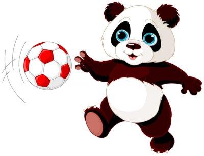 Poster Panda colpisce la palla