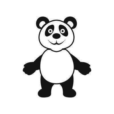 Poster Panda orso icona, stile semplice