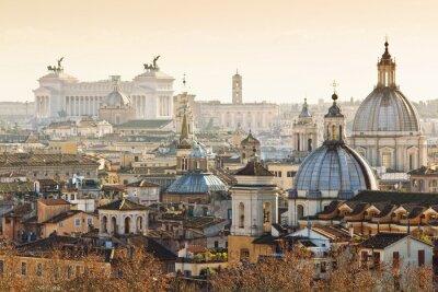 Poster Panorama del centro storico a Roma, Italia