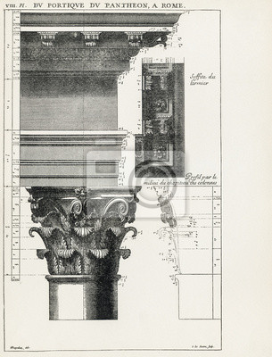 Poster Pantheon a Roma VIII