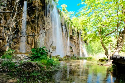 Poster Parco Nazionale dei Laghi di Plitvice in Croazia
