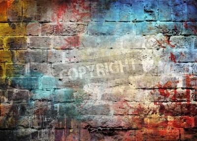 Poster Parete di fondo graffiti
