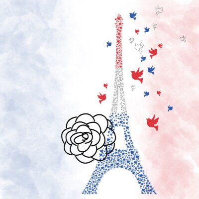 Poster Parigi Torre Eiffel