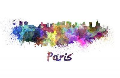 Poster Parigi V2 orizzonte in acquerello