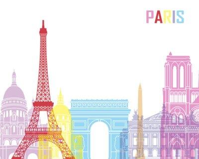 Poster Paris skyline pop