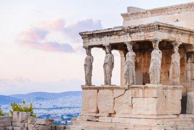 Poster Particolare della Eretteo a Acropoli di Atene, Grecia