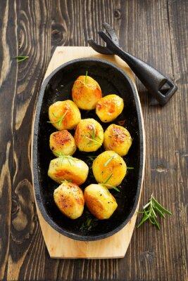 Poster Patate al forno con rosmarino.