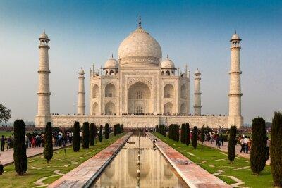 Poster Patrimonio mondiale dell'UNESCO di Taj Mahal, Agra, Rajasthan, India