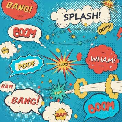 Poster Pattern comic speech bubbles in pop art style