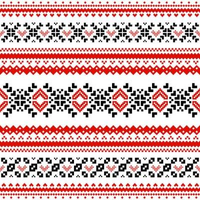 Poster Pattern con linee di cuori scandinavi