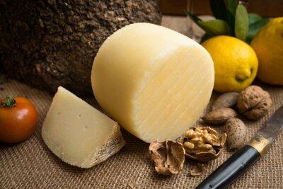 Poster Pecorino fresco, formaggio a pasta dura italiana