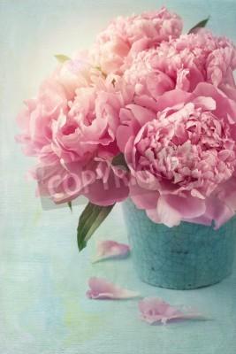 Poster Peonia fiori in un vaso
