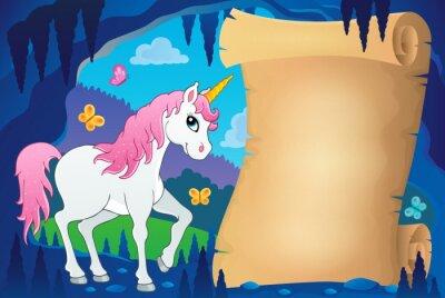 Poster Pergamena nell'immagine della grotta del fiabesco 7